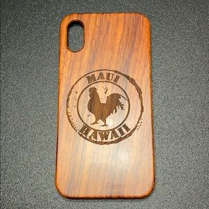Other - iPhone X/XS wooden phone case.